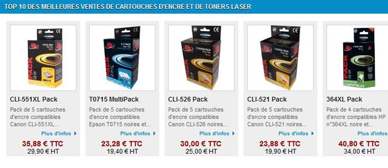 Les petits prix de toner encre laser
